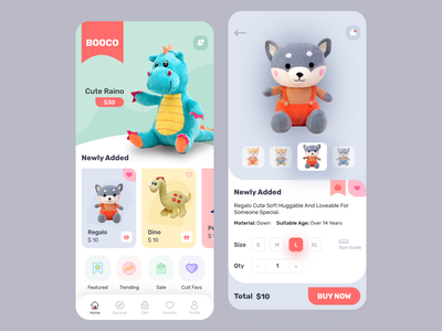 BOOCO - A Toy App kid app shopping app toy branding colorful app design app concept mobile app ios uiux