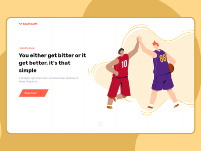 Sportscarft - A Sport Destination landing page design branding uiux colorful illustration sport website sport