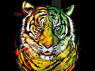 Tiger tiger custom design vector illustration