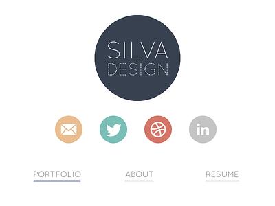 Silva Design  portfolio redesign flat social media icons style tile