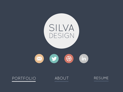Dark Theme Redesign dark portfolio redesign flat