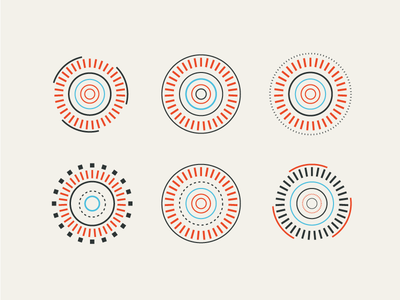 Circles on Circles on Circles circles complementary colors indicators location