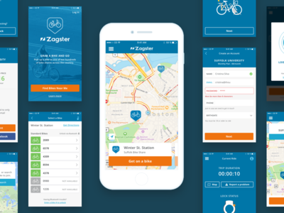 Zagster Mobile App map sign up checkout bikes ios mobile