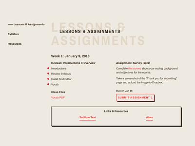 5D Tools: Semester II class education web ui design typography
