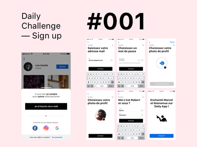 Daily UI Challenge #001 - Sign up flat design app ux ui dailyui dailyui 001 dailyuichallenge