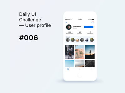 Daily UI Challenge #006 - User Profile Hint