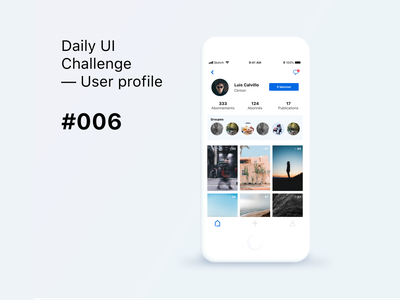 Daily UI Challenge #006 - User Profile Hint app dailyui design daily006 daily 006 social buttons user profile social app ui dailyuichallenge