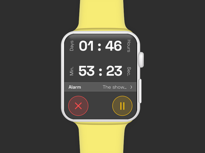 Daily UI Challenge #014 - Countdown Timer countdowntimer watch daily 14 dailyuichallenge countdown timer