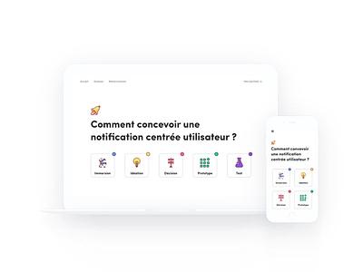 Page d'accueil - Livre blanc design sprint design home homepage notification ux ui