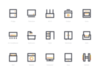 Household facility icons