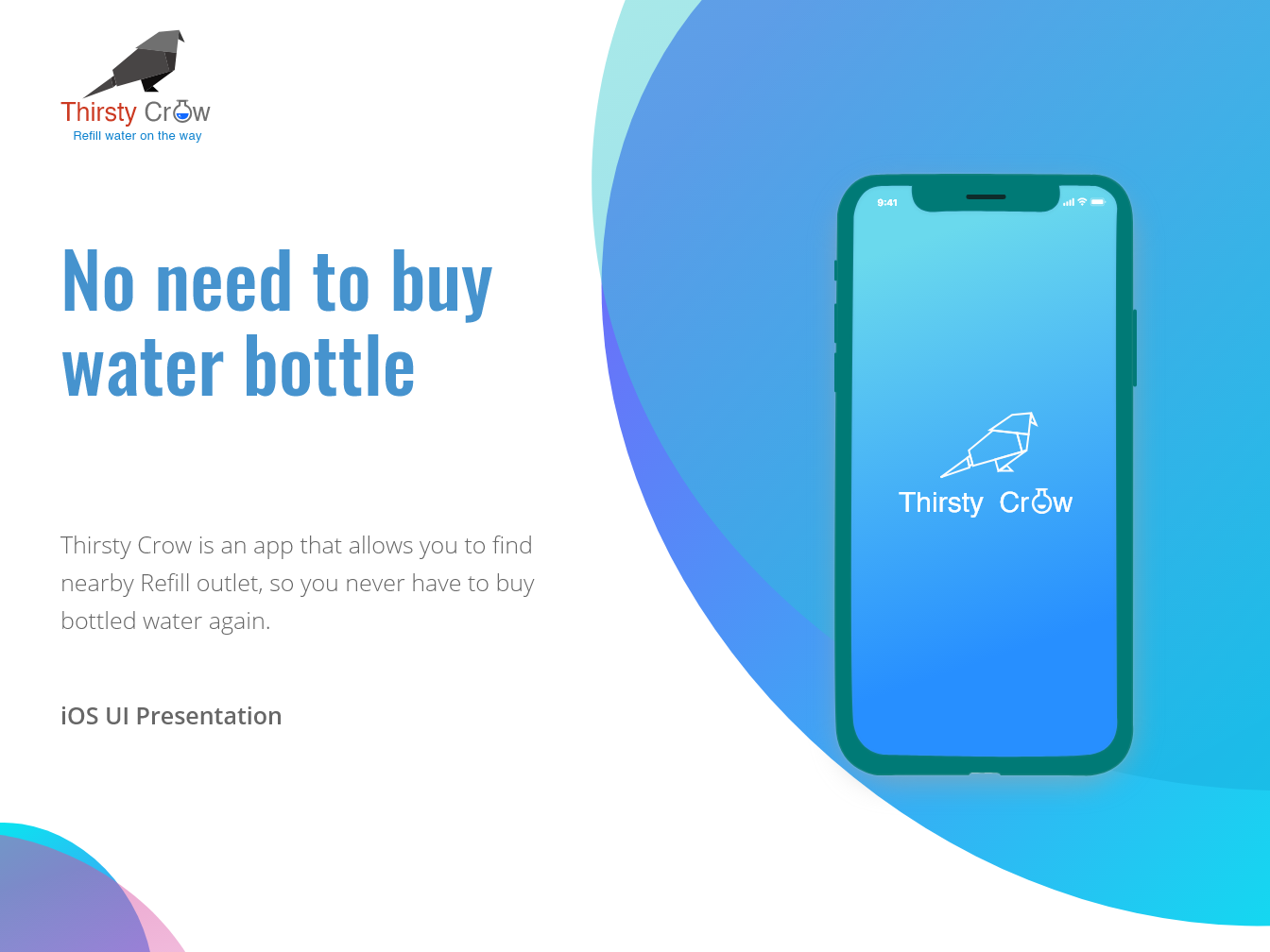 Thirsty Crow water bottle water mobile app ios 10