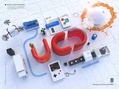 IUCD LOGO DESIGN c4d branding logo 3d art