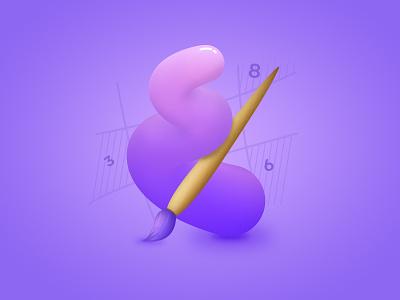 Coloring Book illustration app logo game icon branding design logo