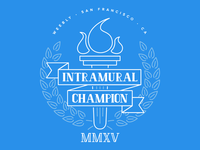 Intramural Champion T-Shirt intramurals laurels competition champion winner illustration t-shirt shirt tshirt sports line art