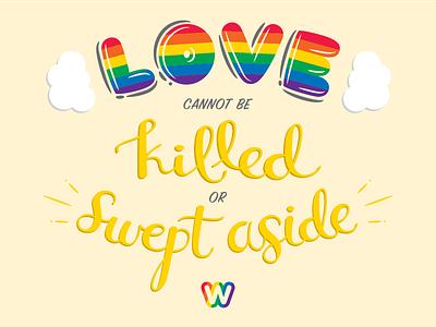 Weebly Pride Sticker typography lgbt lgbtq rainbow love pride