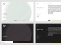 Personal portfolio app for sound artist