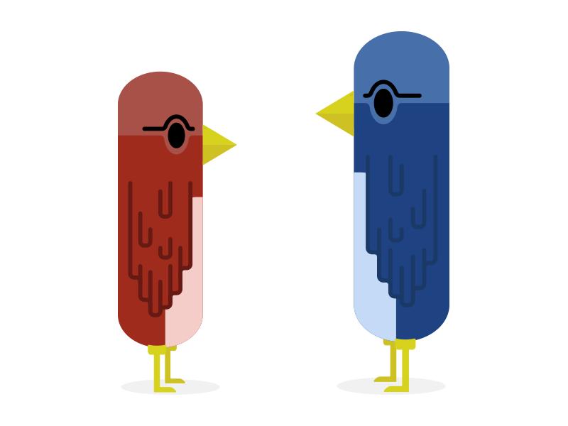 Birds (Chillin) WIP illustration color bird