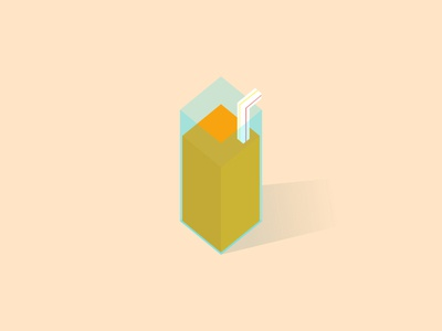 OJ! illustration color orange juice oj breakfast cup straw