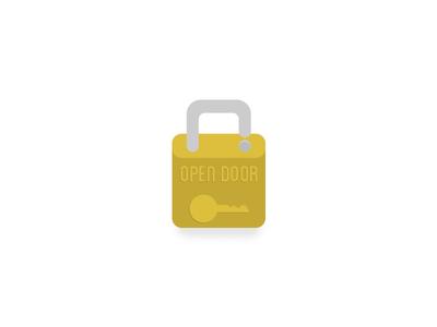 Lock illustration color lock