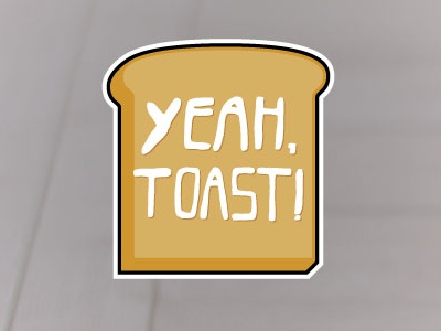 Yeah, Toast! illustration color sticker