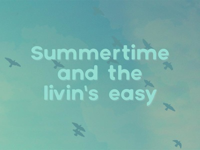 Summertime Poster poster color