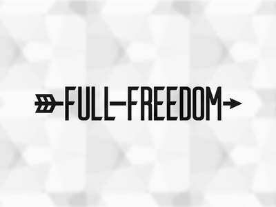 Full Freedom Logo arrow black  white logo