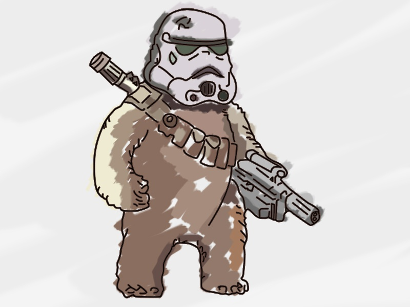 Ewok digital illustration star wars ewok