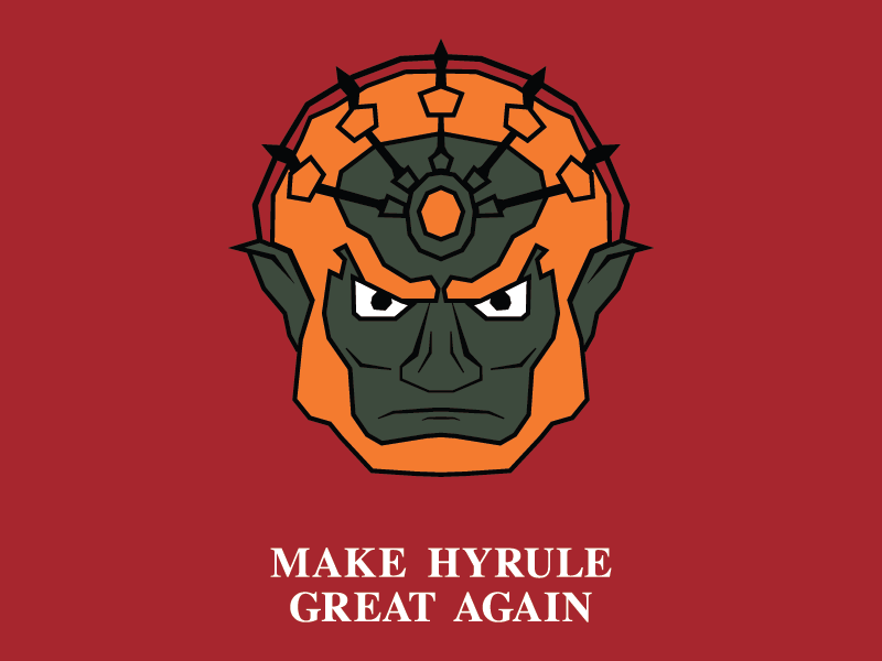 Make Hyrule Great Again the legend of zelda illustration