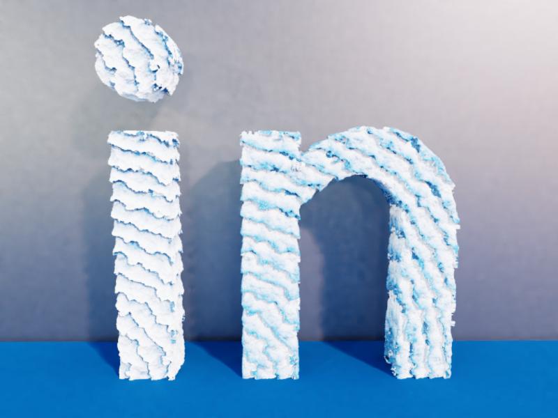 Linkedin designer design artist art skill model trends font abstract creative cycles colour typography motion graphics lights 3d linkedin blender 2020 logo
