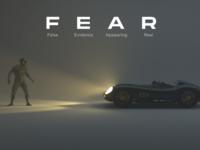 Fear motivated wallpaper motiongraphics creativity creative volumetrics fear scifi light characters cars visualisation poster 3dart 3d