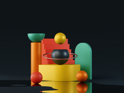 Abstract art # 3dart abstract clean smooth shapes contrast creative conceptual composition colors 3d art