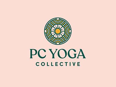 Park City Yoga Brand vector monoline icon brand design logo