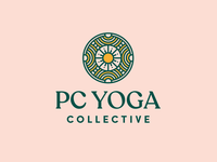 Park City Yoga Brand vector monoline icon brand design logo