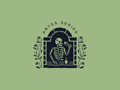 Catacombs of Paris catacombs wine candle skeleton packaging branding brand design logo illustration