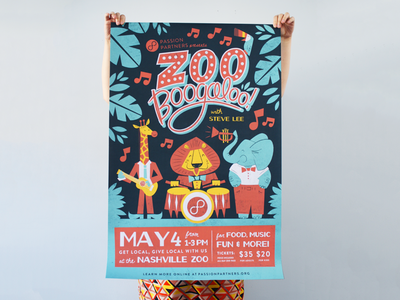 Zoo Boogaloo poster, printed!