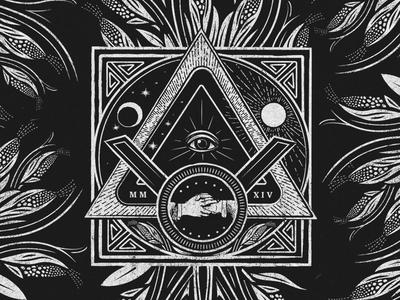 Pyramid Seal Illustration pyramid seal illustration black and white vodka distill