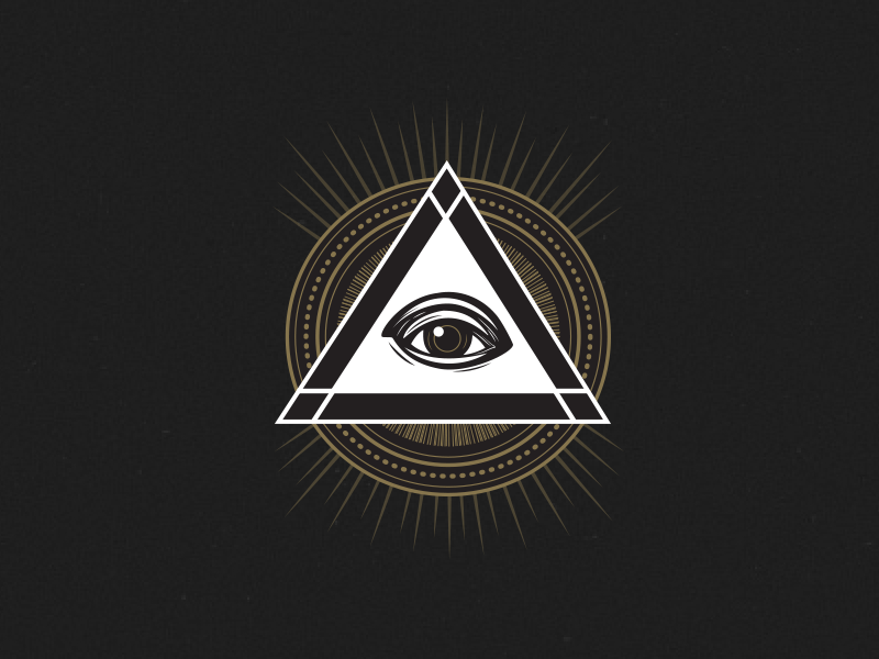 pyramid logo bug by allie mounce dribbble