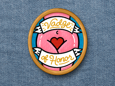 Vadge of Honor mockup patch women planned parenthood imwithher hillary election