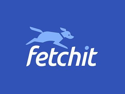 More fetching. puppy run software tech brand logo fetch dog