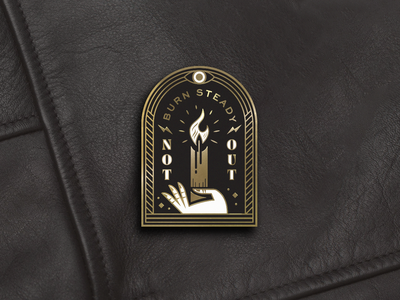 Society of the Single Flame baton rouge workshop flame secret society cult magic crop con flair candle hand design icon monoline enamel pin illustration