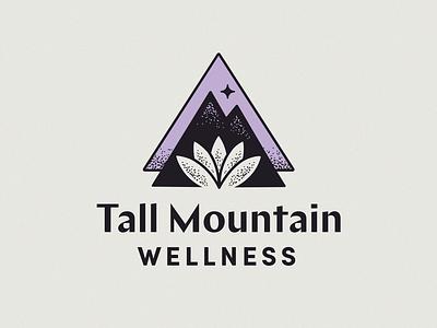 Tall Mountain chap mark salt lake city tattoo wellness yoga lotus mountain sacred geometry brand design logo