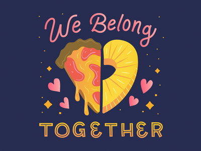 Hot Take Tuesday No. 1: Pineapple and Pizza Belong Together lettering hot take food pineapple pizza cute design illustration