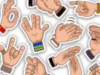 Hands  Sticker Pack