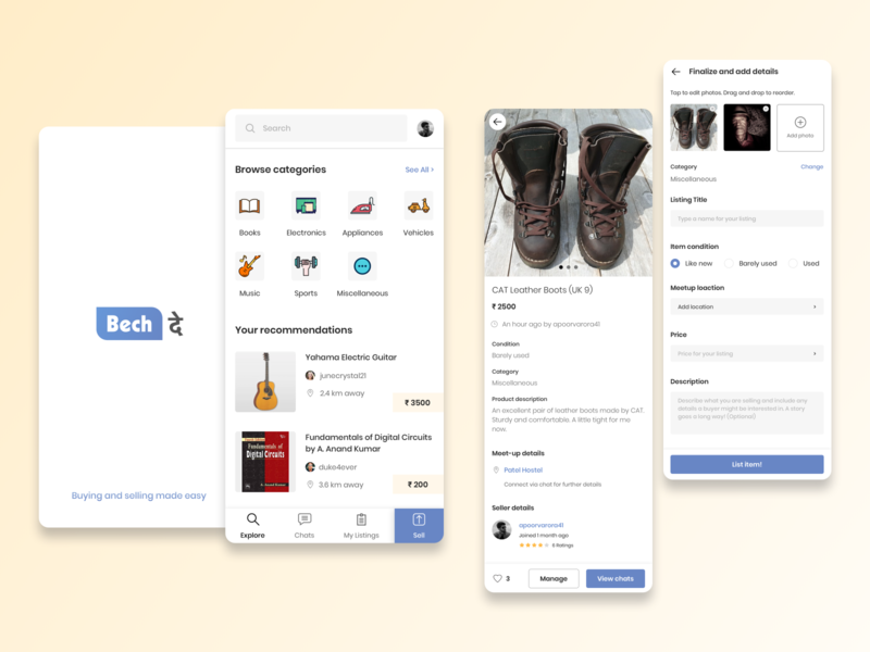 Buying and selling app iconography appdesign logo blue app design minimal flat ux ui design