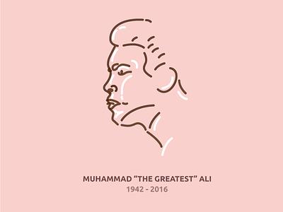 "Muhammad ""The Greatest"" Ali tribute icon line boxer greatest ali muhammad"