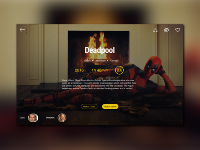 Movie Streaming concept