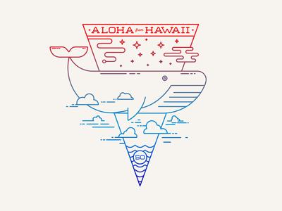 Flying Whales hang loose shaka type vector lettering tshirt tshirt graphics line art icon flat design branding tropical monoline logo island illustration hawaii hawaiian aloha