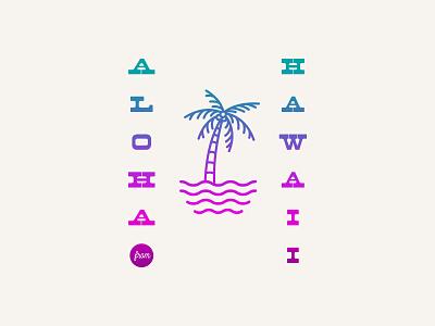 Aloha from Hawaii Motel shaka tshirt hang loose tropical logo island hawaiian aloha hawaii typography motel