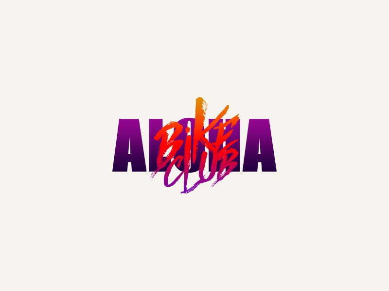 Aloha Bike Club club bike branding tshirt graphics design tshirt hang loose tropical logo island hawaiian aloha hawaii