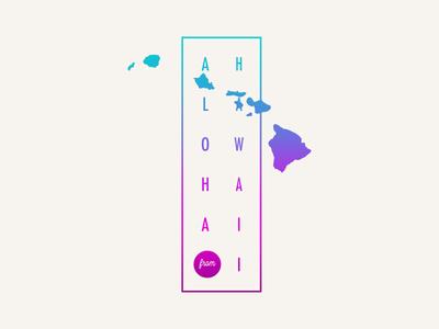 Aloha from the Hawaiian Islands design flat tshirt graphics illustration branding logo hang loose vector shaka monoline tshirt tropical island hawaiian aloha hawaii